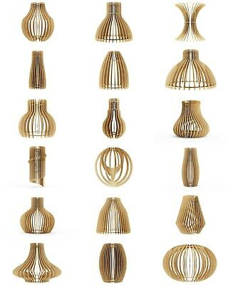 Wooden Lampshade - Pure Natural Wooden Hanging Ceiling Lampshade