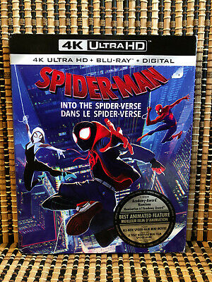Spider-Man: Into the Spider-Verse 4K (1-Disc Blu-ray, 2019)+Slipcover.Marvel