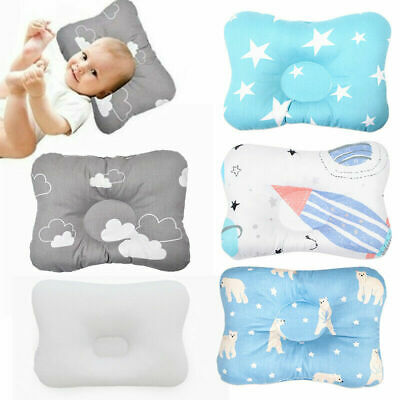 Pillow Baby Bedding Baby Bear Shaping Pillow Anti-roll Pad Flat Headrest Colored Cotton Embroidery New Design Soft Washable Child Sleep Locator Beautiful And Charming