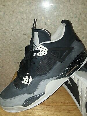 d15c07d09a5a9e NIKE AIR JORDAN 2013 Mens Retro 4 Fear Pack MJ Black Gray Size 12 ...