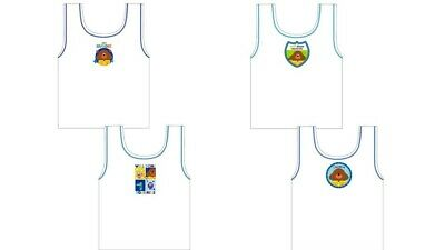 Boys Kids Hey Duggee 2 pack vests White 18 Months to 5 Years Sleeveless Squirrel