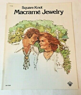 Square Knot MACRAME JEWELRY Vintage 1975 Pattern Book
