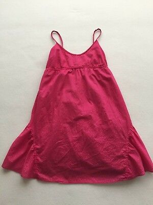 American Eagle AE Pink Cotton Dress with White Polka Dots Size 0