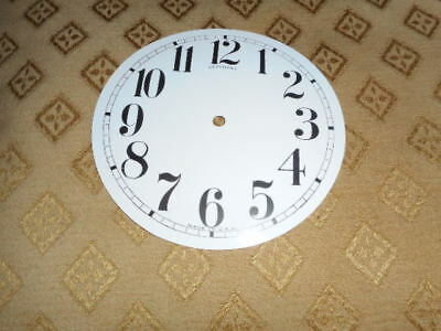 For American Clocks-Round Sessions Paper Clock Dial-100mm M/T- GLOSS-Spares #