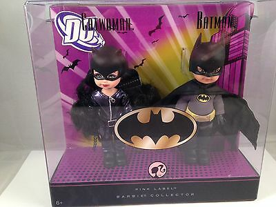 Barbie Collector Dc Catwoman Batman Kelly/Tommy Giftset-Minty Mint