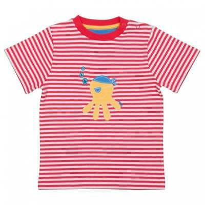 Kite Clothing Organic Cotton Baby Boy's Striped T-Shirt Applique Octopus Pirate