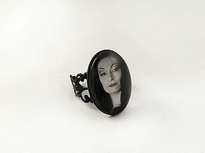 The Addams Family Ring, Anjelica Huston As Morticia, Adjustable, Gothic Goth