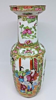 19th Century Chinese Cantonese Famille Rose Porcelain Vase