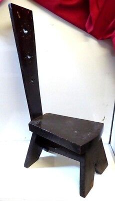 Antique Arts and Crafts Heavy Oak Spinning Chair