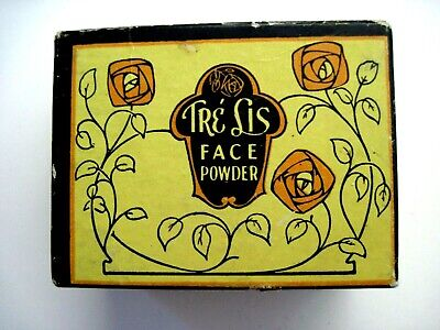 "Vintage Powder Box Titled ""Tre Lis"""" - Contains Face Powder - Unused *"