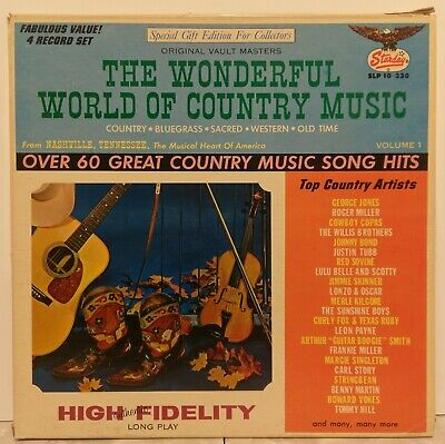Hard To Find Starday 4 Lp Box Set Wonderful World Of Country Music Slp 10-330