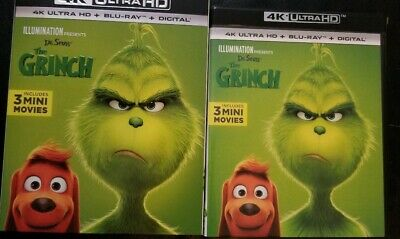 Dr. Seuss' The Grinch 2018 (4K Ultra HD + Blu-Ray) w/ Slipcover **NO DIGITAL**