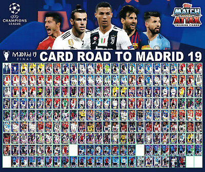TOPPS ROAD TO MADRID '19 UEFA CHAMPIONS LEAGUE dal 001 a 212 - LIMITED EDITION