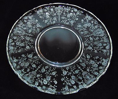 """Cambridge ROSE POINT CRYSTAL * 14"""" TORTE PLATE* 3900/66*"""