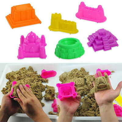6X Castle Sand Clay Mold Portable Baby Kids Educational Mould Toy Beach Sand Toy