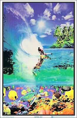 Surf Reef Blacklight Poster 23 x 35