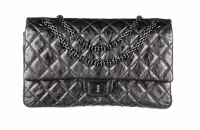 350d2750268162 CHANEL BLACK AGED Calfskin Quilted 2.55 Reissue 226 Flap Bag ...