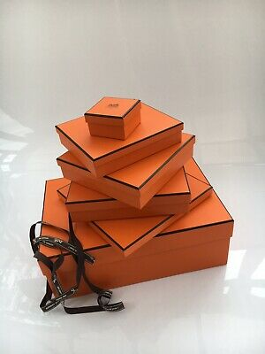 Genuine HERMES Empty Box Plus Ribbon 23x19cm