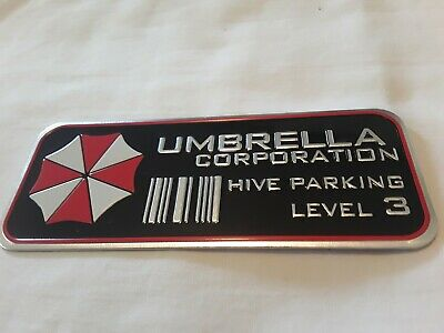 Metal Resident Evil Umbrella Corporation Car Auto Trunk Badge Emblem Car Sticker