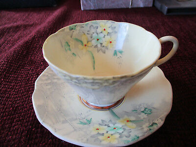 """Vintage Paragon """"Woodland Bluebell"""" 1930's Tea Cup--Numbered & Initialed"""