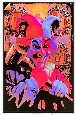 ICP - Insane Clown Posse Carnage by Tom Wolf Black Light Poster 23 x 35
