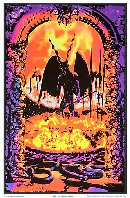 Gates Of Hell Blacklight Poster 23 x 35