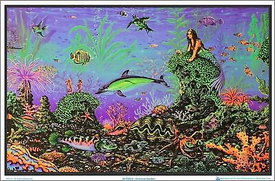 "Octopus Garden by: Michael Fishel Blacklight Poster - Flocked - 23"" x 35"""