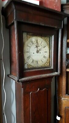 18thC Welsh Cottage LONGCASE CLOCK Roberts of Wrexham Brass Face 30hr