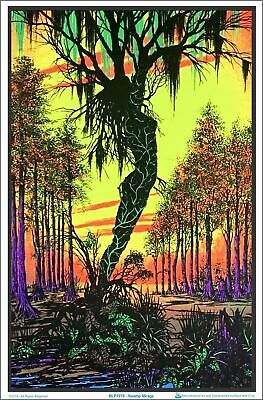 Swamp Mirage Blacklight Poster 23 x 35