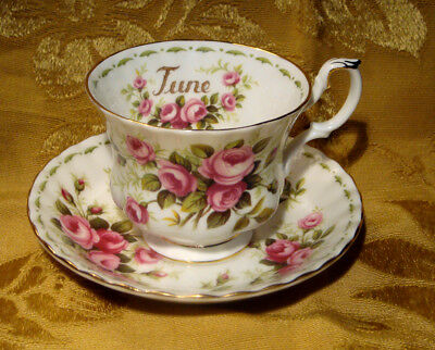 Royal Albert *roses* June Cup & Saucer Flower Of The Month Series England