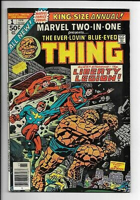 Marvel Two-In-One Annual #1 : Very Fine- 7.5 : Thing and Liberty Legion