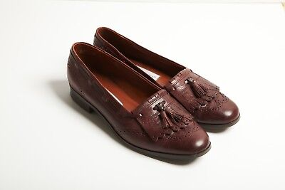 634ac71f2d3 Vtg Etienne Aigner Slip-On Brown Leather Loafers w  Tassles Women s Shoes  Sz 7.5