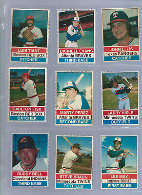 Hostess 1976 Baseball Card Lot 42 Panels Of 3 Cards Vg Ex