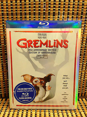 Gremlins: 25th Anniversary Edition (Blu-ray, 2009)+Rare OOP Embossed Slipcover.