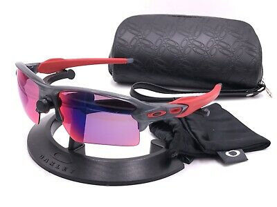 bea7bc1053 OAKLEY FLAK 2.0 XL Matte Grey Smoke w Prizm Road Sunglasses OO9188 ...