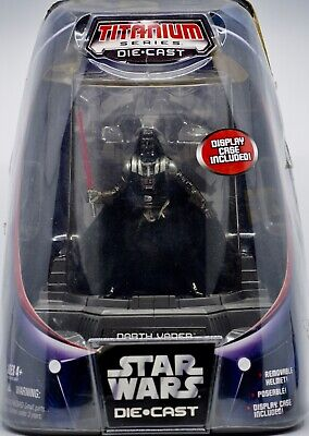 2005 Hasbro Micro Machines Star Wars Titanium Series Darth Vader Die Cast Figure