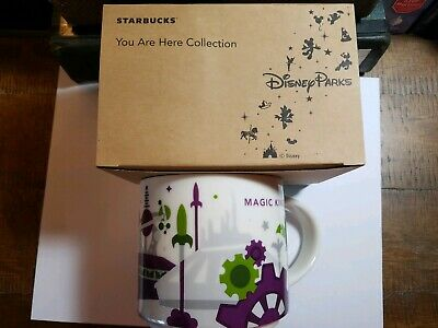 2018 Disney Magic Kingdom Version 3 You Are Here (YAH) Starbucks COFFEE Mug BOX