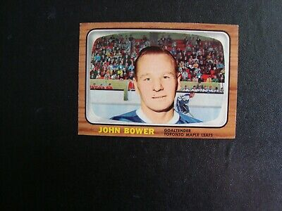 Topps 1966-67 Johnny Bower - Toronto Maple Leafs - Ex.++