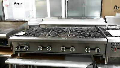 "Used 48"" Turbo Air Countertop (8) Burner Nat Gas Hotplate"