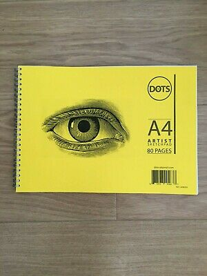 A4 Artist Sketch Book White Paper Spiral Sketch pad Yellow Card and PVC Cover