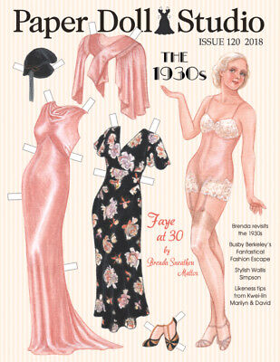 """Paper Doll Studio Magazine Issue #120 """"THE 1930s"""" from 2018"""