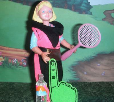 Exercise Sports Suit Tennis Racket Fanny Pack fits Fisher Price Dollhouse Dolls