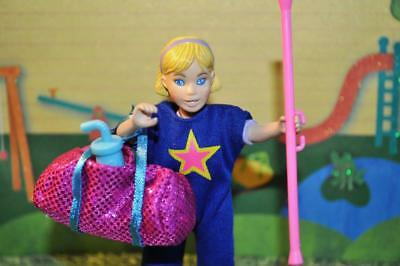Exercise Sports Suit baton Gym Bag Sport Bottle fits Fisher Price Dollhouse Doll