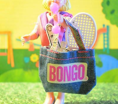 Exercise Sports Suit Tennis Racket Gym Bag fits Fisher Price Dollhouse Dolls