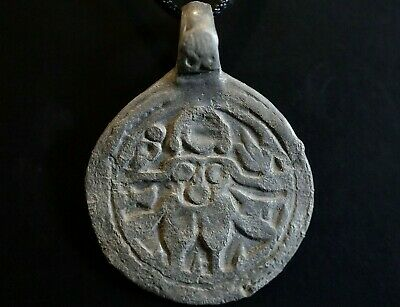 Ancient Roman Silver Erotic Pendant. Amulet of Naked Female Body, c 250-350 Ad.