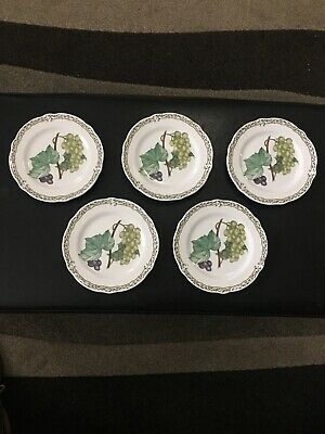 Noritake China Royal Orchard Bread & Butter Plates Set Of 5 - Blue Stamp #9416