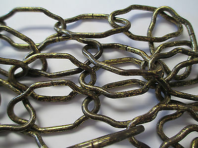 """Vintage Antique Chandelier Chain Chippy Gold Large Cathedral  Italian Tole 24"""""""