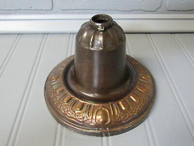 "Vintage Antique Brass Bell Shaped Chandelier Ceiling Canopy 5 7/8"" Diam. CAN 7"