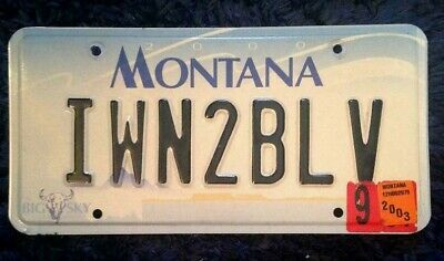 Montana Vanity Personalized License Plate I Want To Believe Faithful Religious