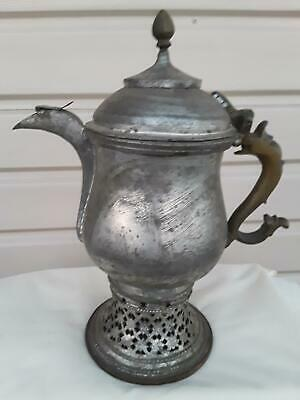Antique Indo-Persian Copper Samovar Traveling Tea Kettle Islamic Bedouin